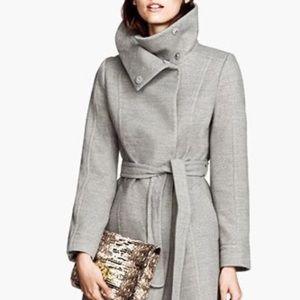 Size Medium: H&M Funnel Collar Belted Jacket Coat